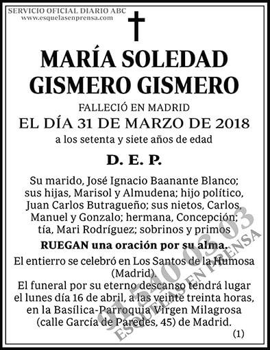 María Soledad Gismero Gismero
